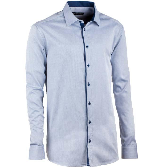 Luxusní nadměrná pánská košile šedo modrá Assante 31017
