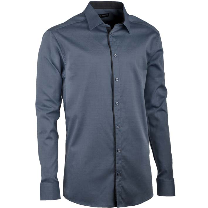 Luxusní pánská košile ocelově modrá rovná Assante 30424