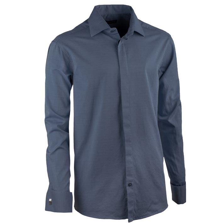 Košile na manžetový knoflíček ocelově modrá regular Assante 30426