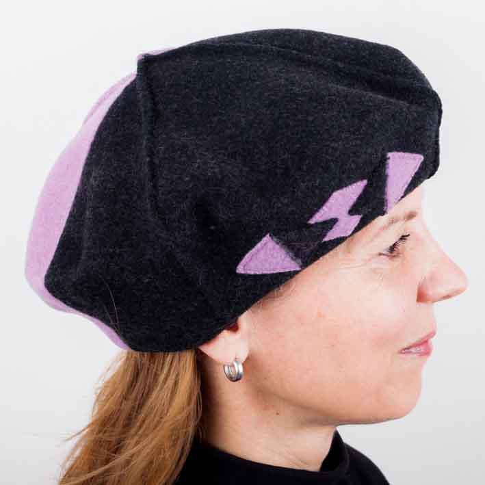Fialový dámský elegantní baret Tonak 87226