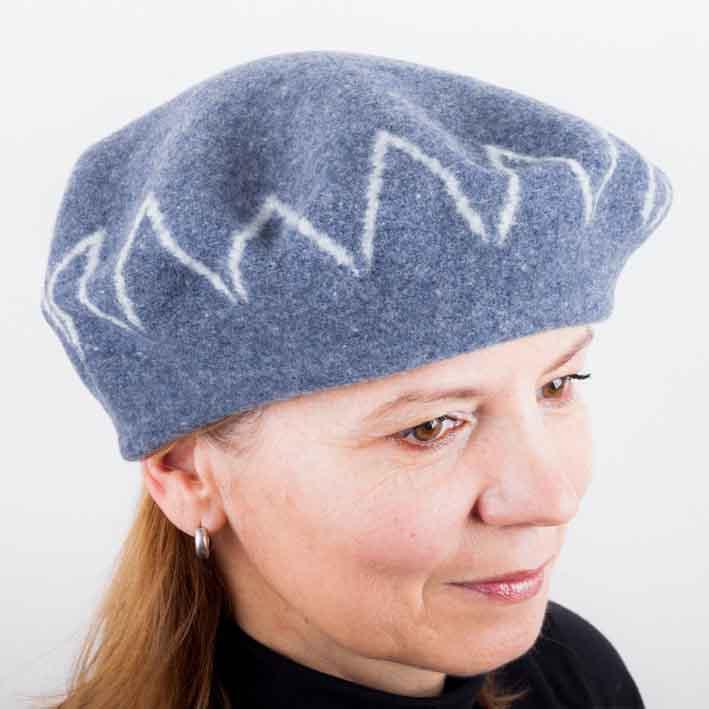 Šedý dámský elegantní baret Tonak 87230