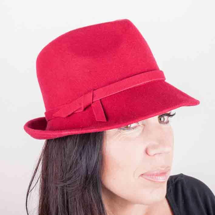 Vínový dámský klobouk Assante 86979