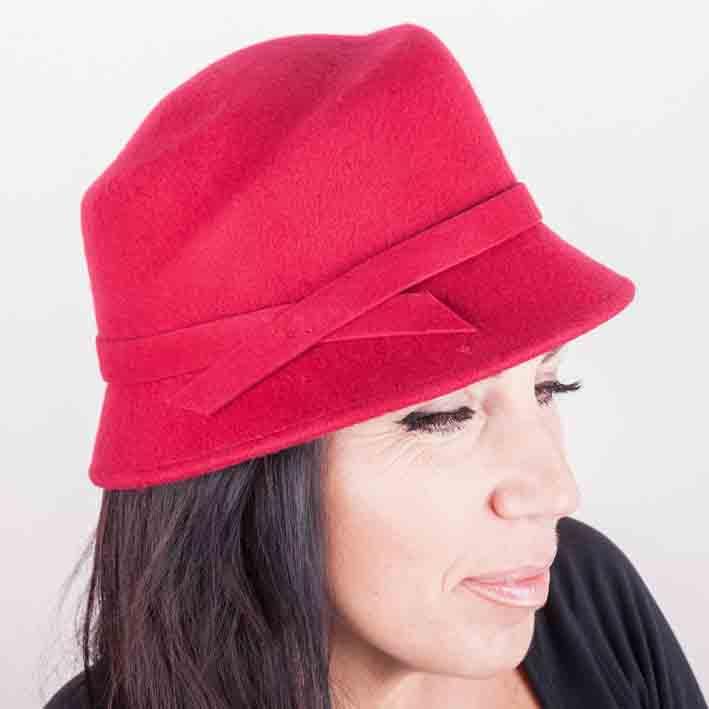 Vínový dámský klobouk Assante 86985