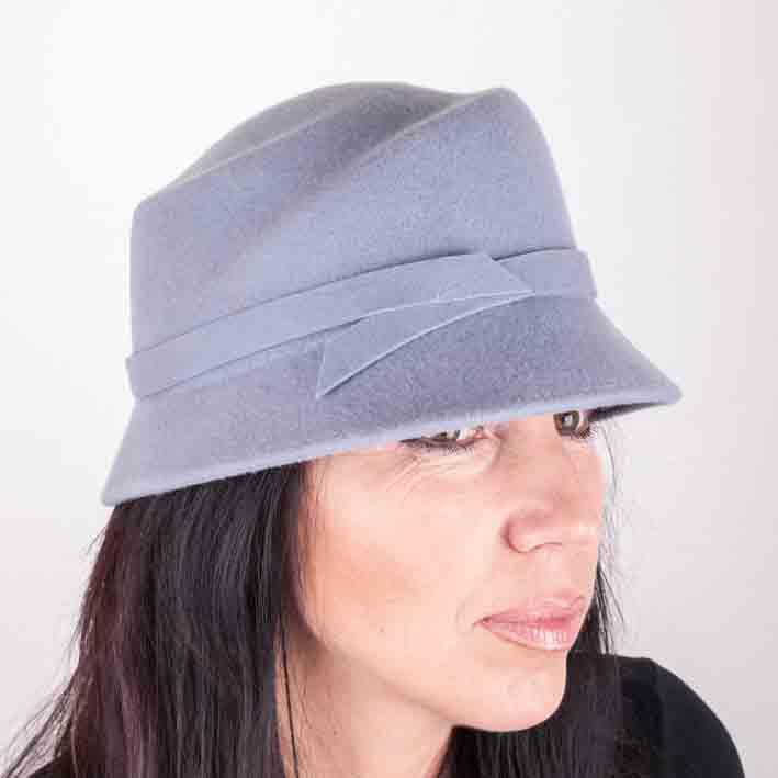 Šedý dámský klobouk Assante 86987