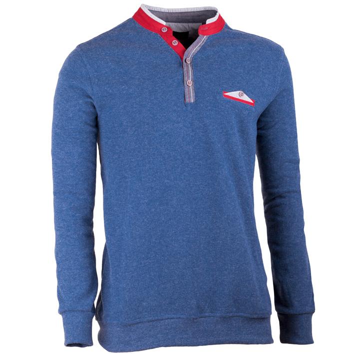 Modrý pánský svetr bavlněný Scot Sanders 167005