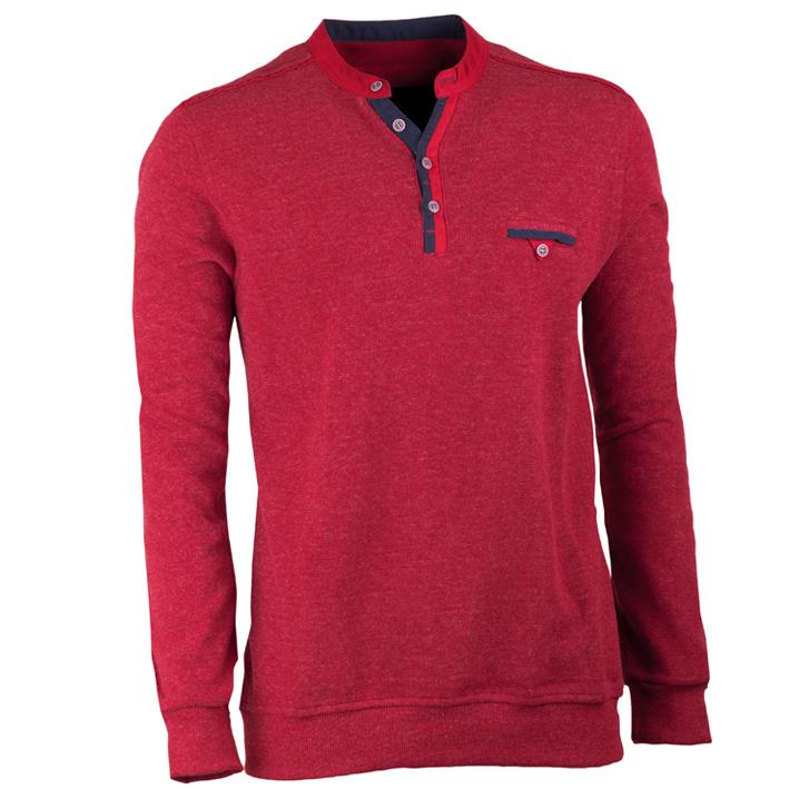Bordový pánský svetr bavlněný Scot Sanders 167006