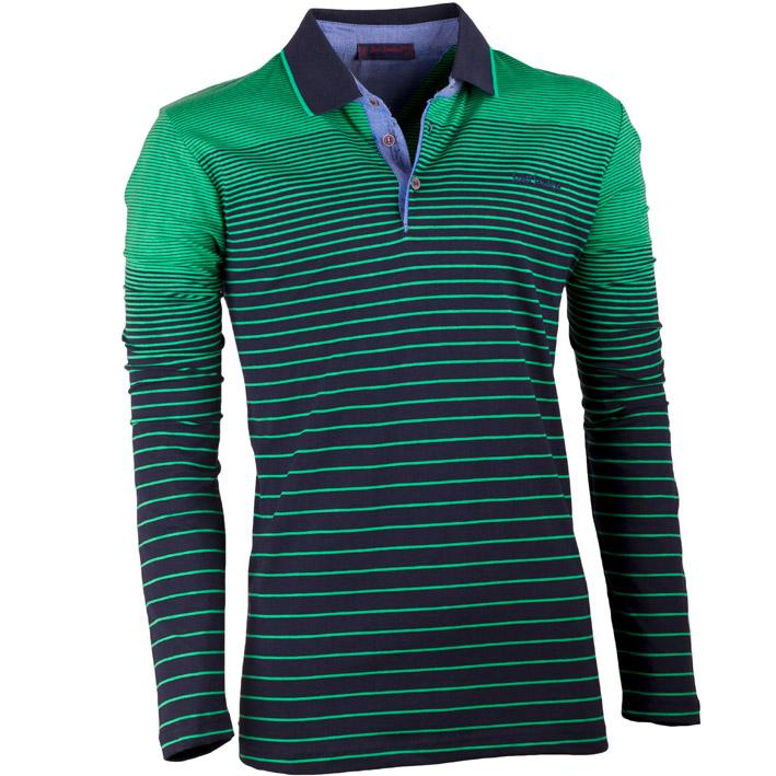 Zelená pánská polokošile s dlouhým rukávem Scot Sanders 167003