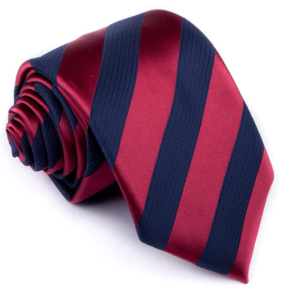 Bordó kravata pruhovaná Greg 93204