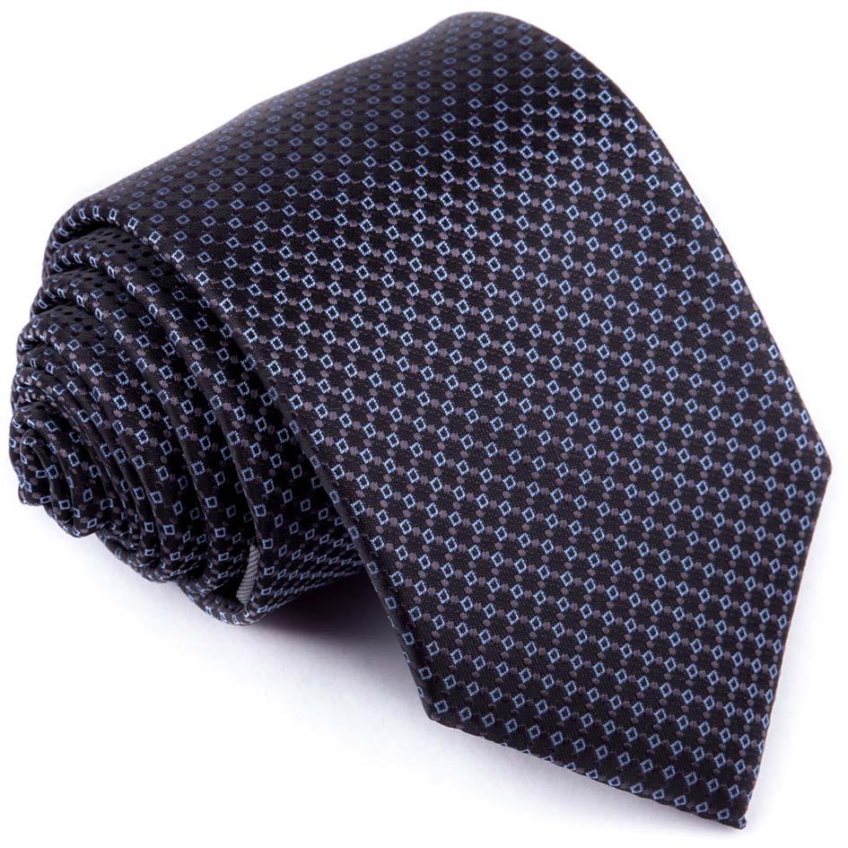 Luxusní kravata modročerná vzorek Greg 94266