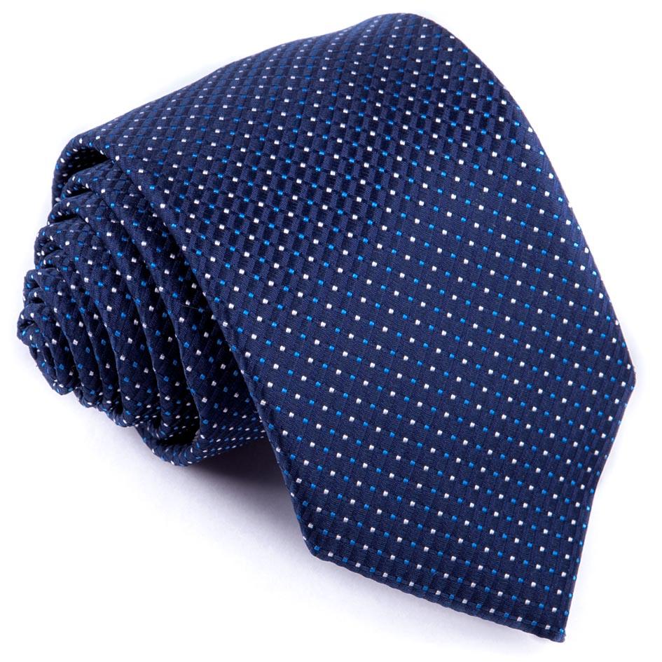 Kravata modrá puntíkovaná Greg 94269