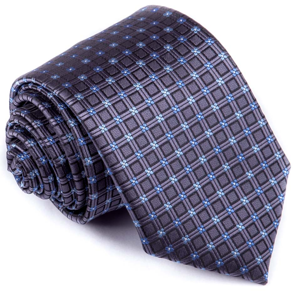 Modrošedá luxusní kravata Greg 94281