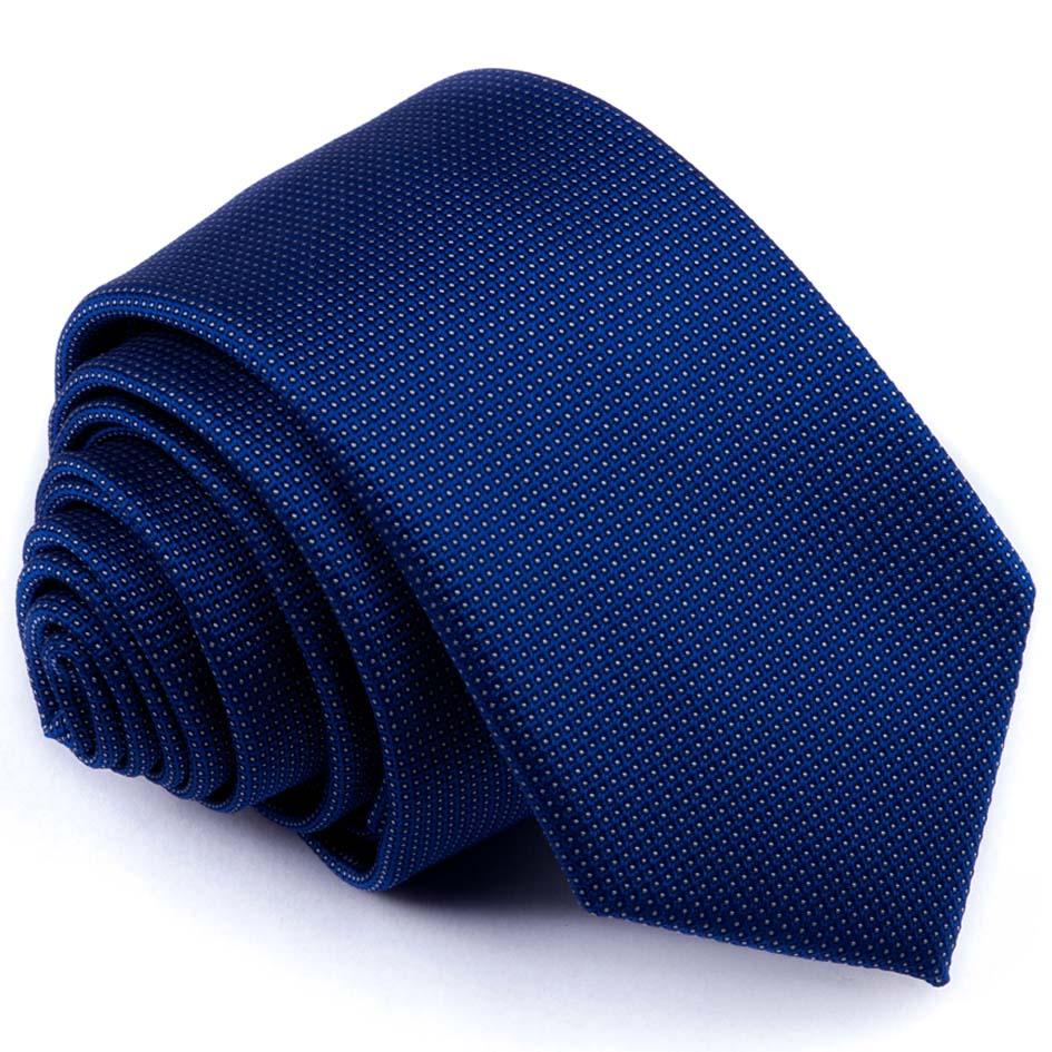 Modrá tečkovaná slim fit kravata Greg 94293