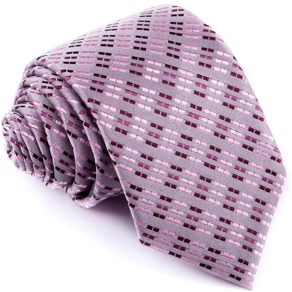 Fialovošedá luxusní kravata Greg 96146