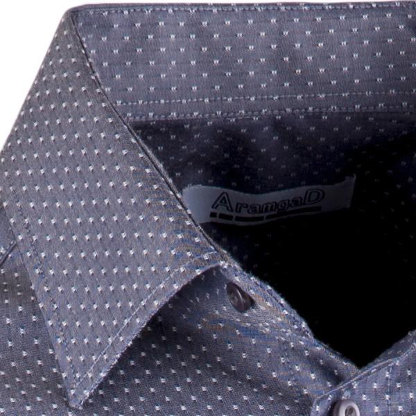 Elegantní šedá košile rovná regular fit Aramgad 40143