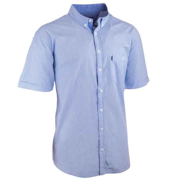 Světlemodrá pánské košile krátký rukáv rovný střih Tonelli 110925