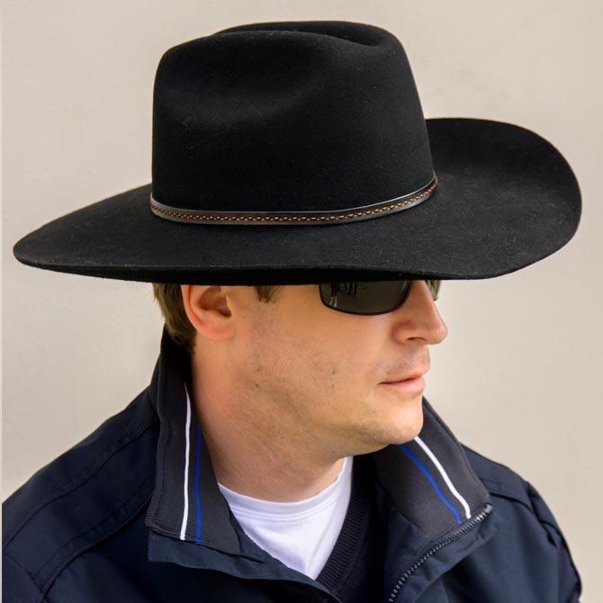 Kovbojský černý klobouk westernový Mes 85031