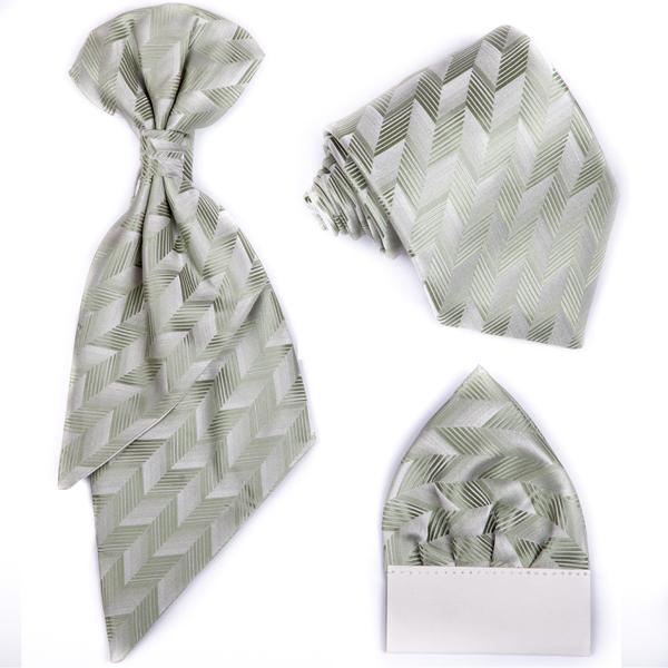 Zelená regata,kravata,kapesníček,slavnostní souprava Assante 90692
