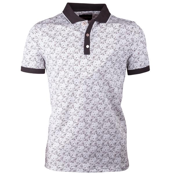 Hnědá pánská polokošile s krátkým rukávem ,triko s limečkem Tony Montana 45024