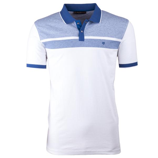 Modrá pánská polokošile s krátkým rukávem ,triko s limečkem Tony Montana 45030