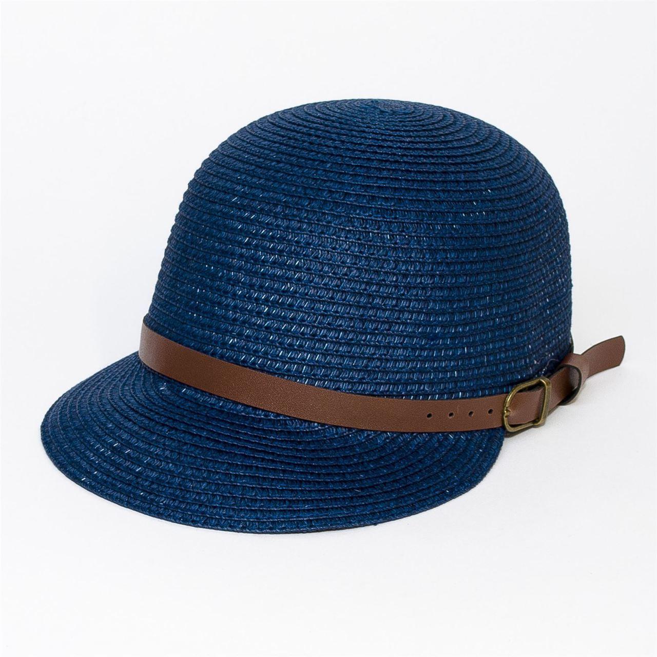 Bekovka slamák s kšiltem barva modrá Assante 161223