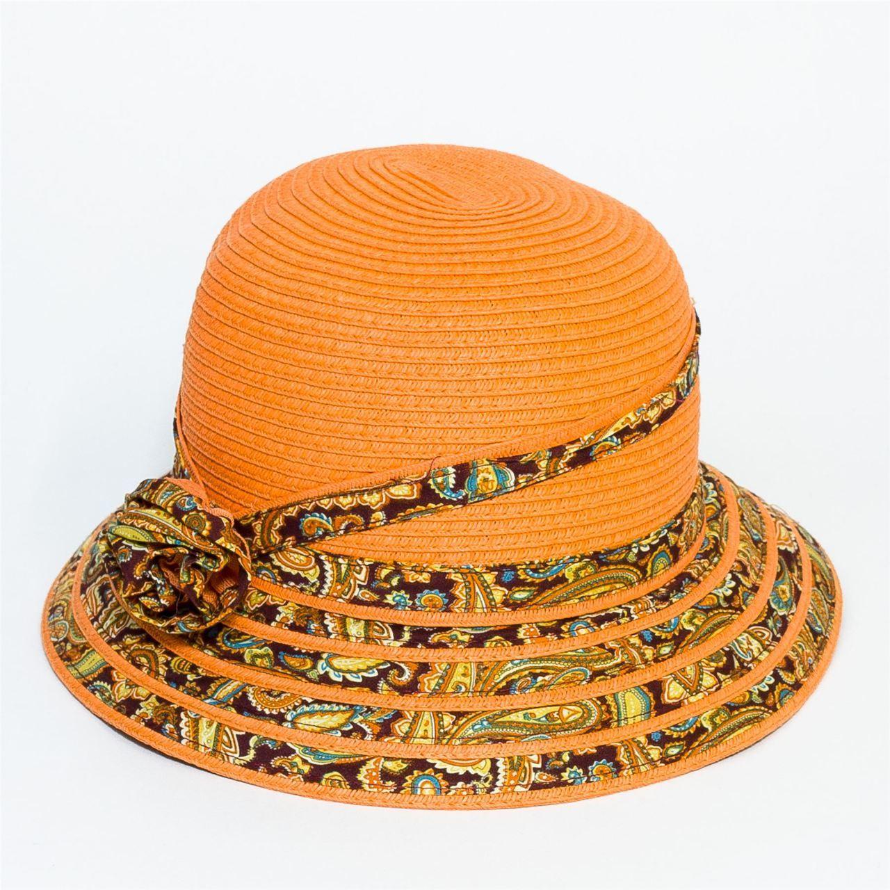 Letní klobouk barva oranžová Assante 161227