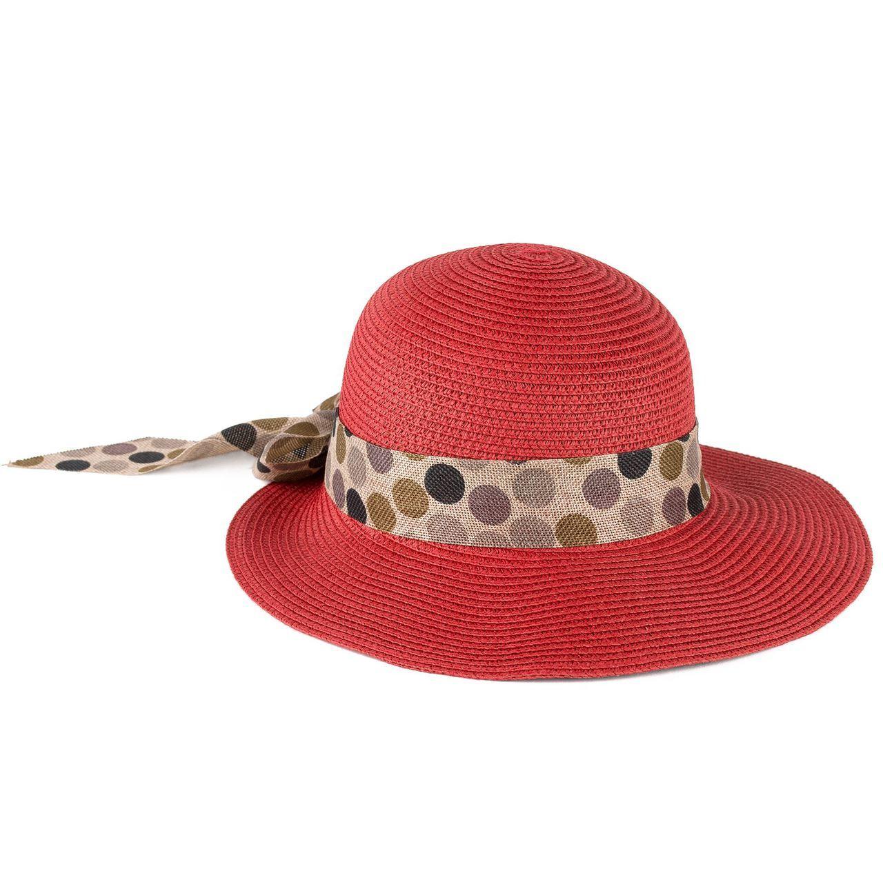Letní klobouk barva červená Assante 161235