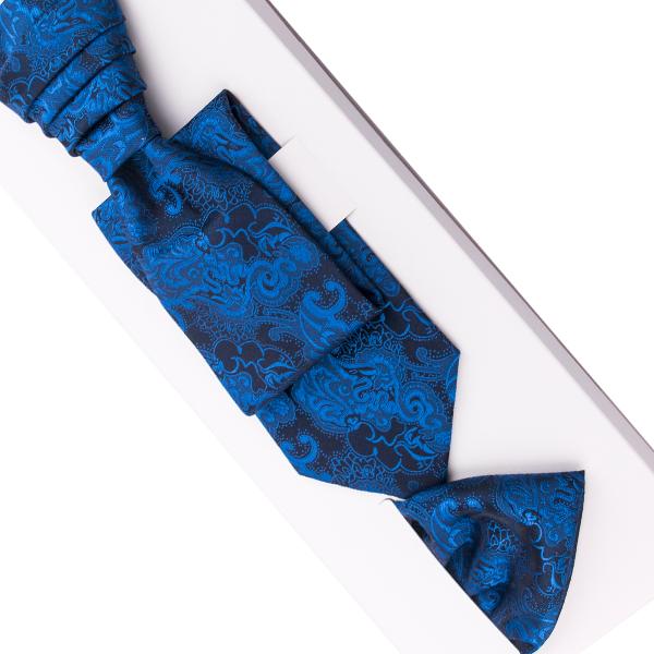 Svatební regata modrá - Anglická kravata Assante 90689
