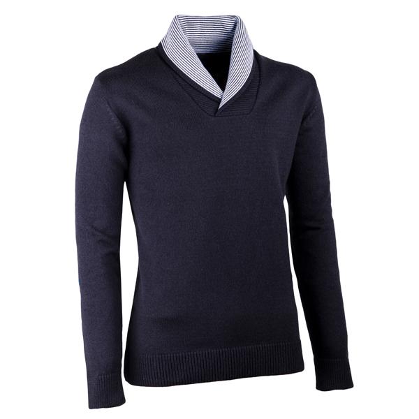 Černý pánský svetr s vysokým límcem Assante 51019
