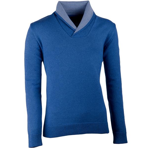 Modrý pánský svetr s vysokým límcem Assante 51021