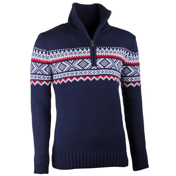 Modrý pánský svetr norský vzor Assante 51022