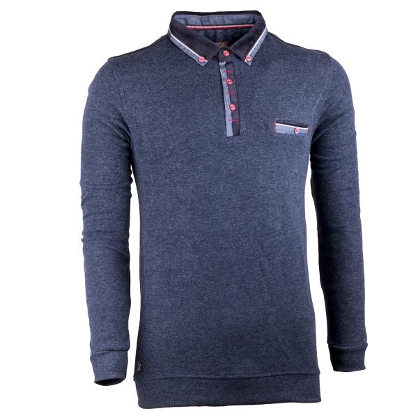 Tmavě šedý pánský svetr bavlněný Semal 167013