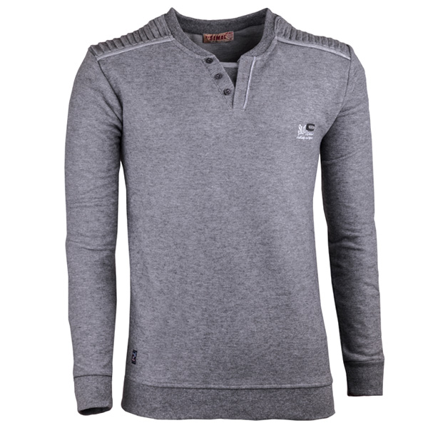 Světle šedý pánský svetr bavlněný Semal 167019