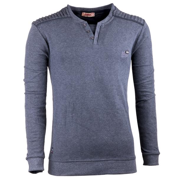Šedý pánský svetr bavlněný Semal 167020
