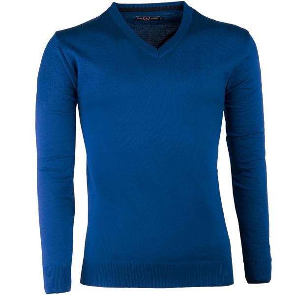 Modrý pánský svetr tenký Scot Sanders 167024