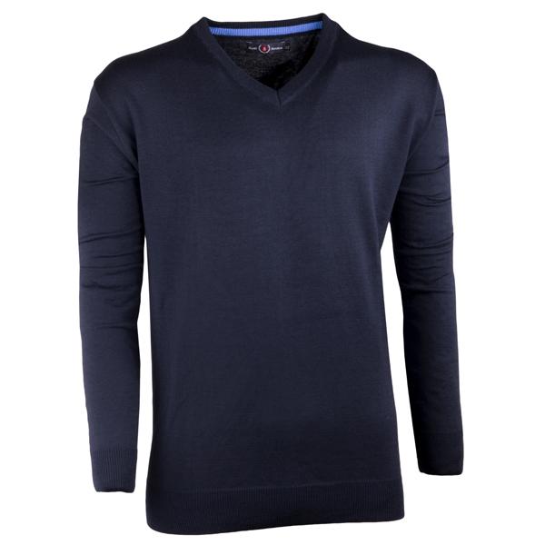 Tmavě modrý pánský svetr tenký Scot Sanders 167026
