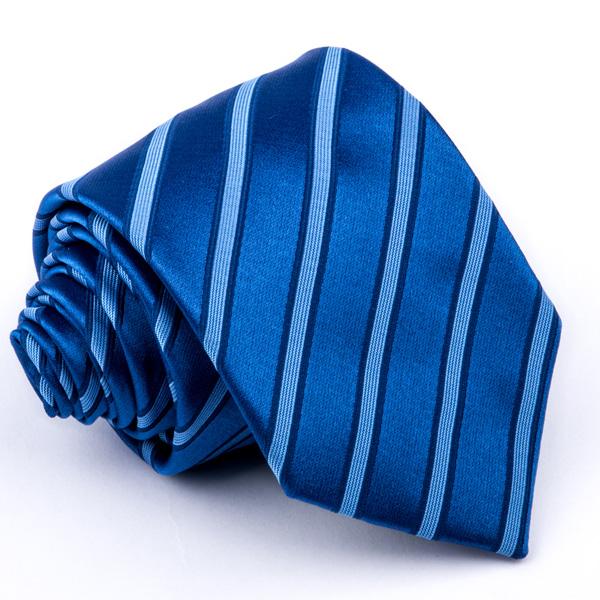 Modrá pruhovaná kravata Greg 94296