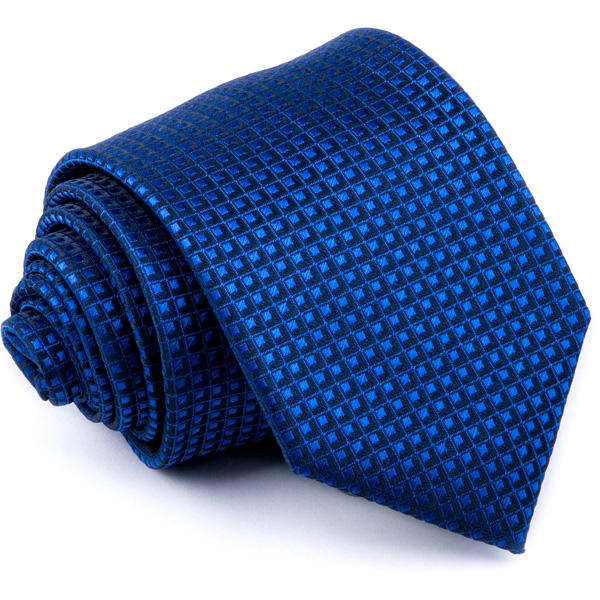 Modrá kravata s jemným vzorkem Greg 94300