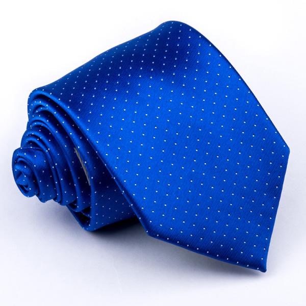 Tečkovaná modrá kravata Greg 94308 velikost Uni
