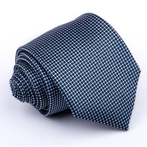 Černo modrá kravata Greg 94311