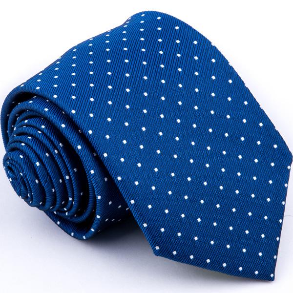 Modrá kravata bílý puntík Greg 94313