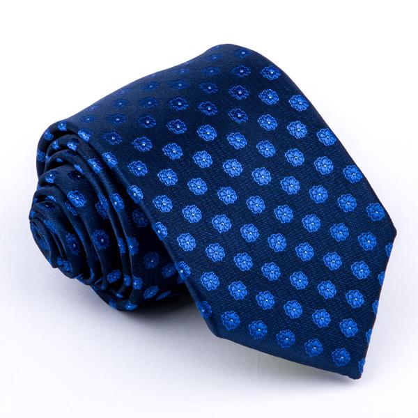 Modrá květinová kravata Greg 94326