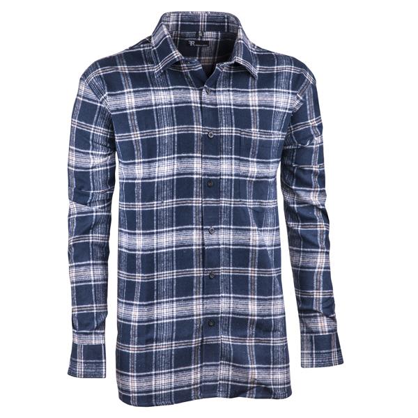 Modrá flanelová košile s dlouhým rukávem rovná Friends and Rebels 30817