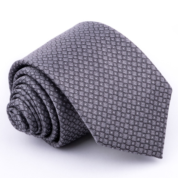 Šedá kravata Greg 91211