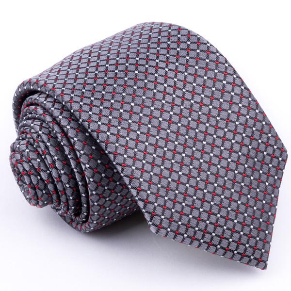 Šedá kravata Greg 91220
