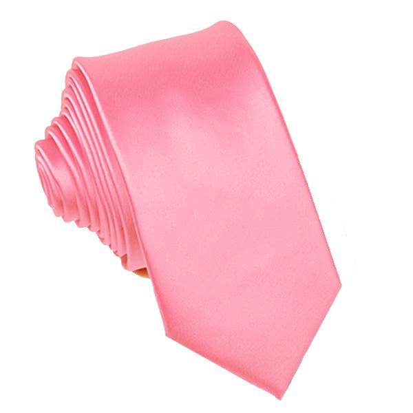 Růžová kravata slim fit Greg 99137