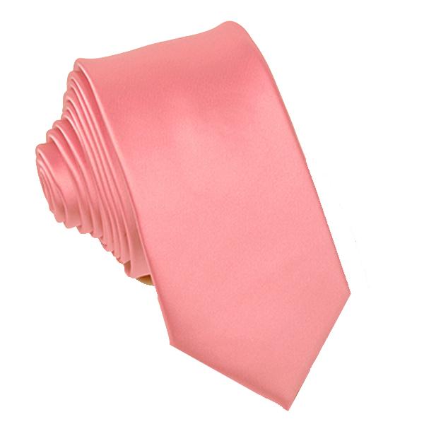 Růžová tmavá slim fit kravata Greg 99138