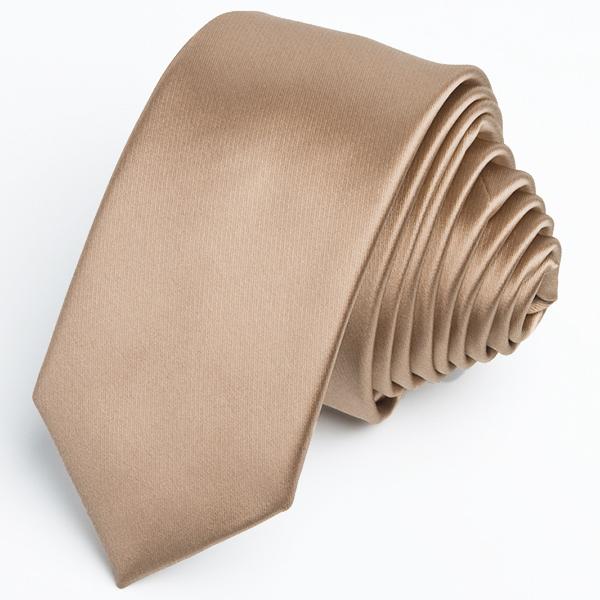 Světle hnědá slim fit kravata Greg 99129