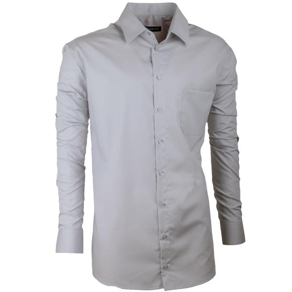 Pánská nadměrná košile v barvě šedé Assante 31098