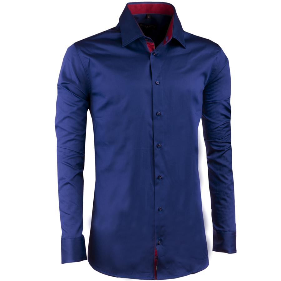 Kobaltově modrá pánská košile slim 100% bavlna non iron Assante 30487 velikost 39/40 (M)