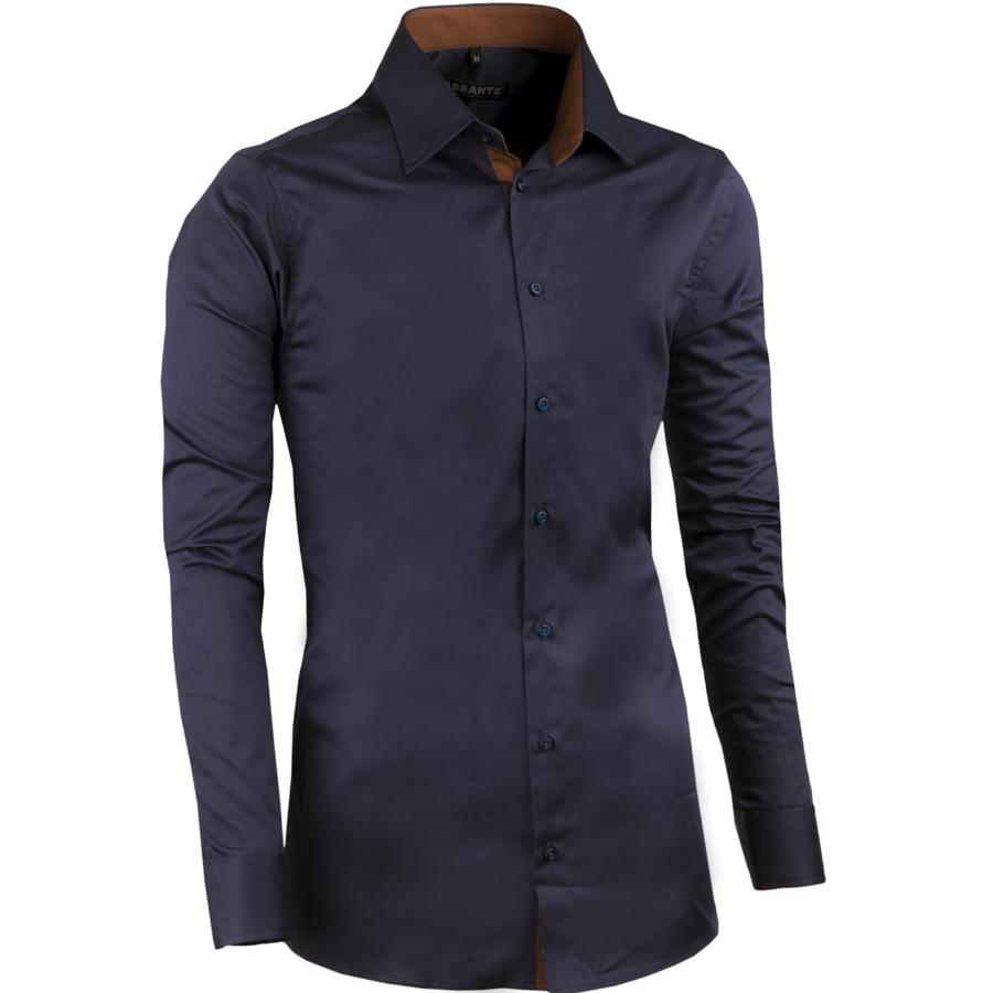 Švestkově modrá pánská košile slim 100% bavlna non iron Assante 30488 velikost 41/42 (L)